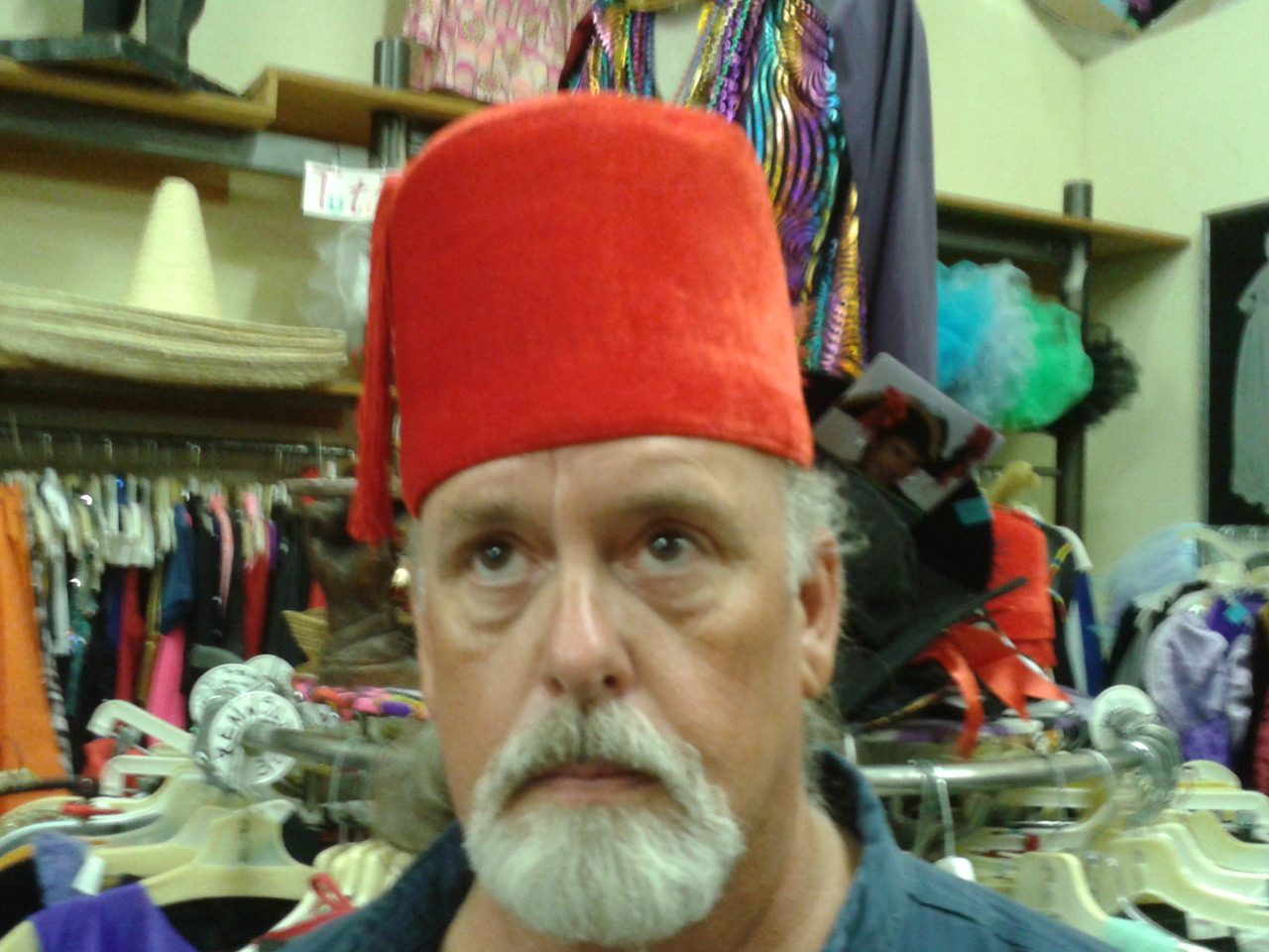 Hubby in a fez because fezzes are cool