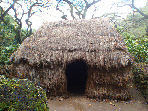 Cole Vassiliou, native hut,  apocaplyse