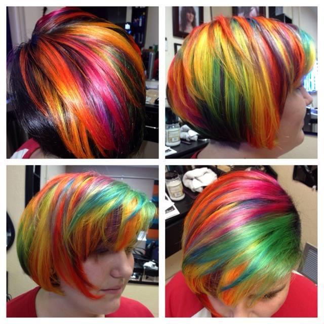 Alica Mckenna-Johnson, hair styles, hair dye, colorful hair, amazing hair, wild hair